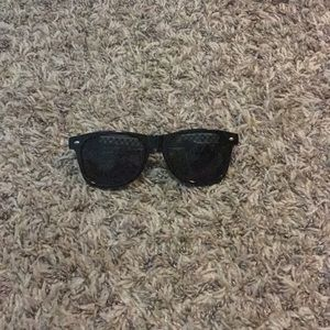 Other - Black sunglasses with colored pads